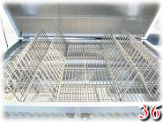 Our stainless steel rib racks clean up easily