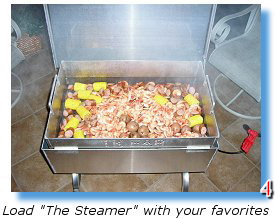 Prepare a lowcountry boil in your Steamer