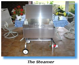 Stainless steel seafood steamer