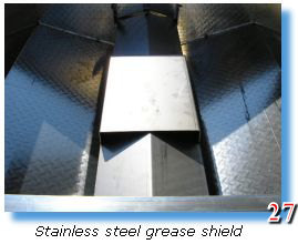 Trailer grill comes with stainless steel grease shield