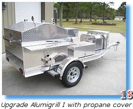 Propane trailer-mounted BBQ grill