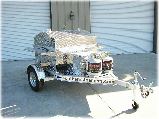 Trailer Mounted Gas Barbecue Grill Bbq Trailers Portable